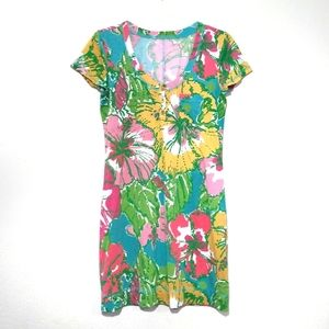 Lilly Pulitzer Britton Hibiscus Floral Dress